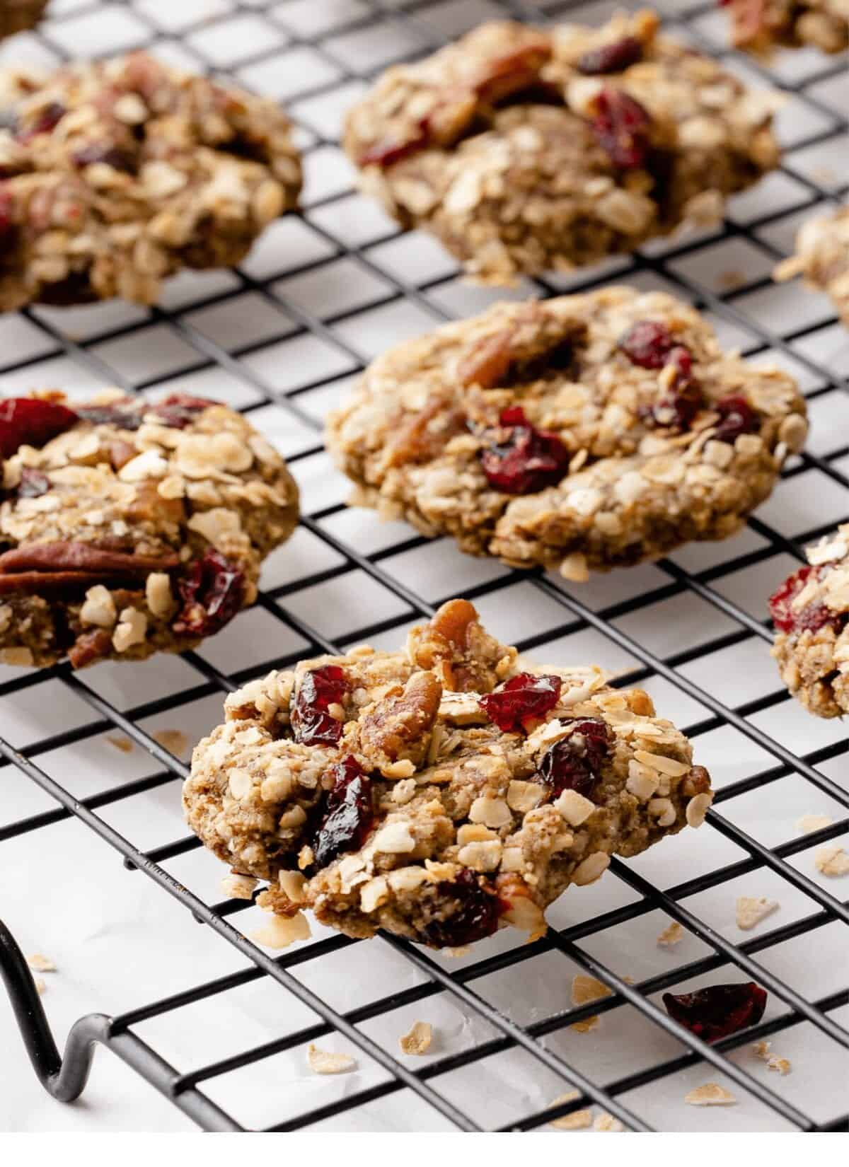 breakfast cookie on rack