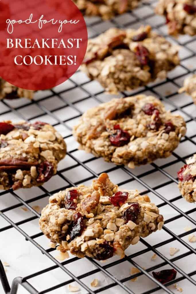 breakfast cookies on rack