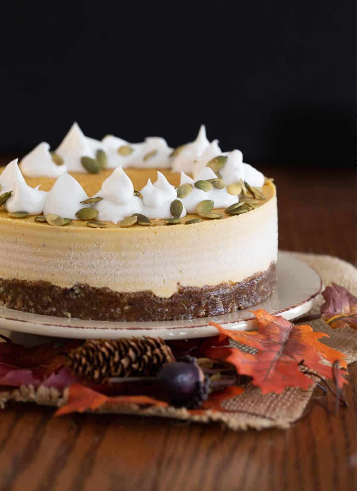 Vegan-Pumpkin-Cheesecake