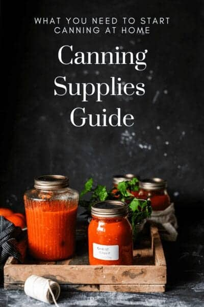 canning supplies guide cover