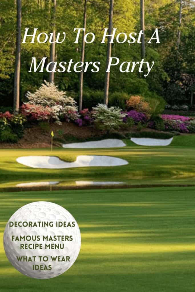 Masters party ideas golf course