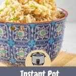 INSTANT POT COCONUT RICE IN A BOWL