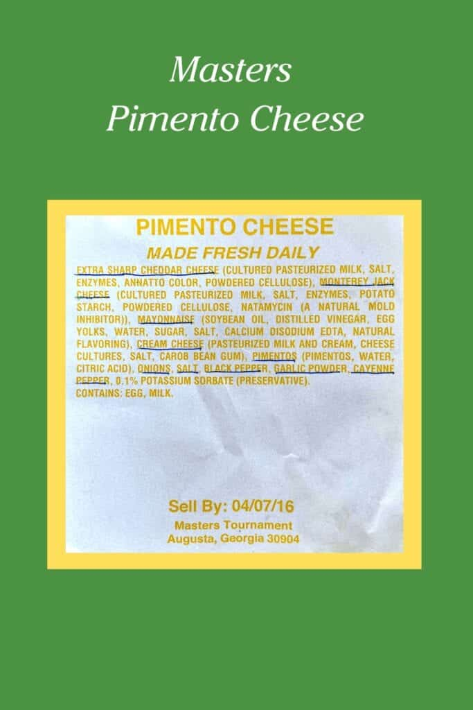 wrapper ingredients for pimento cheese