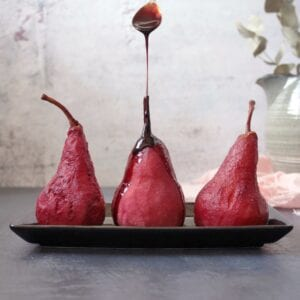 pears poached