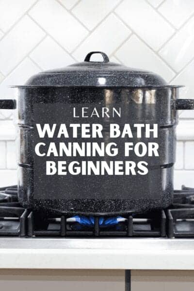 water bath canning canner