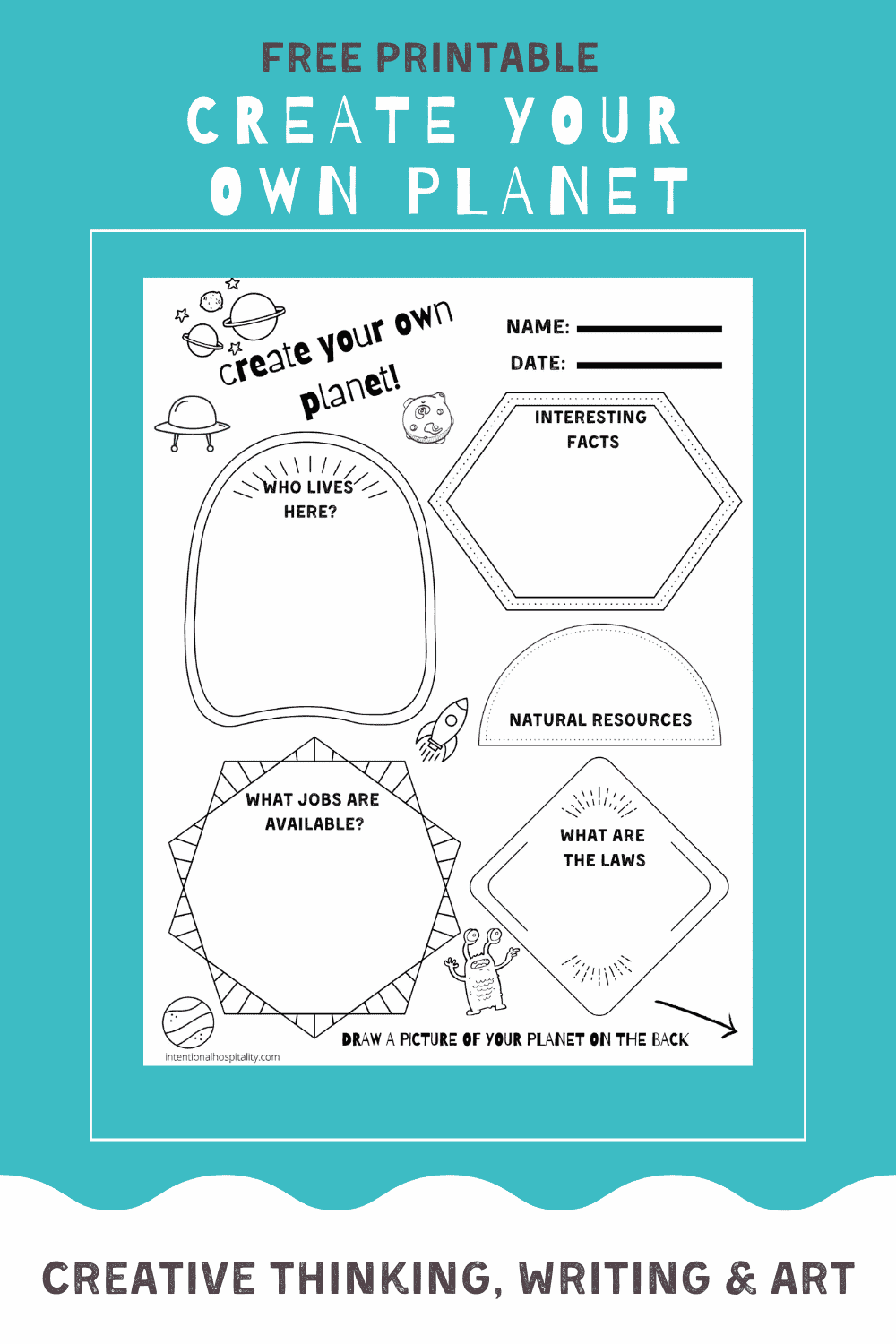 Create Your Own Planet Worksheet picture