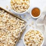 maple glazed popcorn