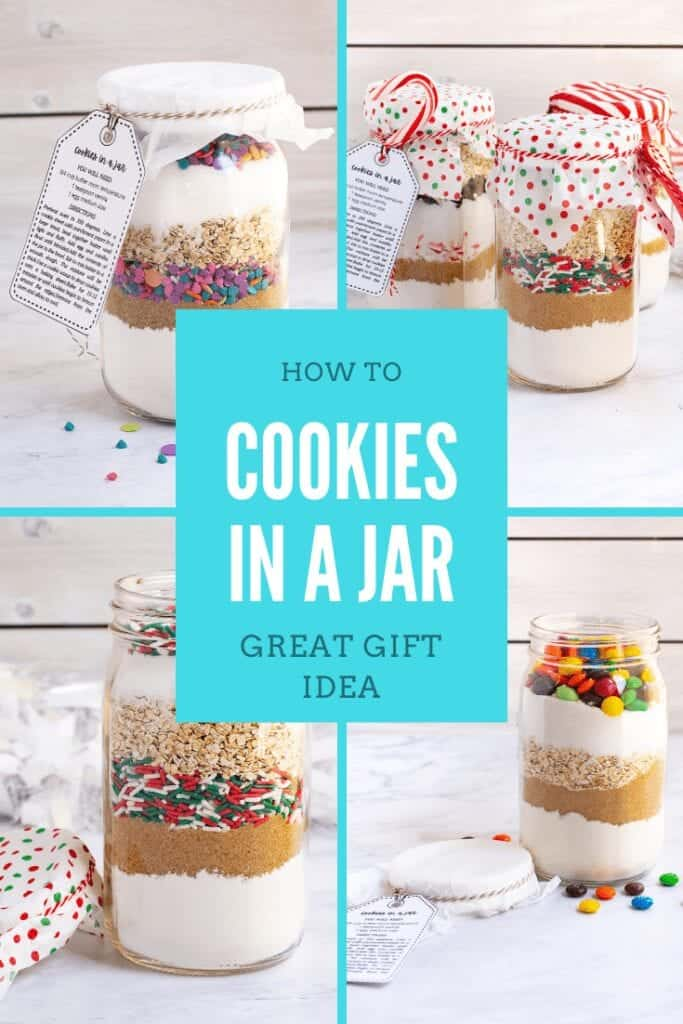 cookie mix gift in mason jars