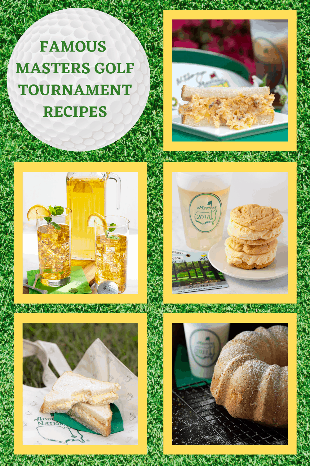 Famous MASTERS Golf Tournament Recipes You Must Try food on green grass