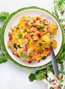 nacho casserole on a plate