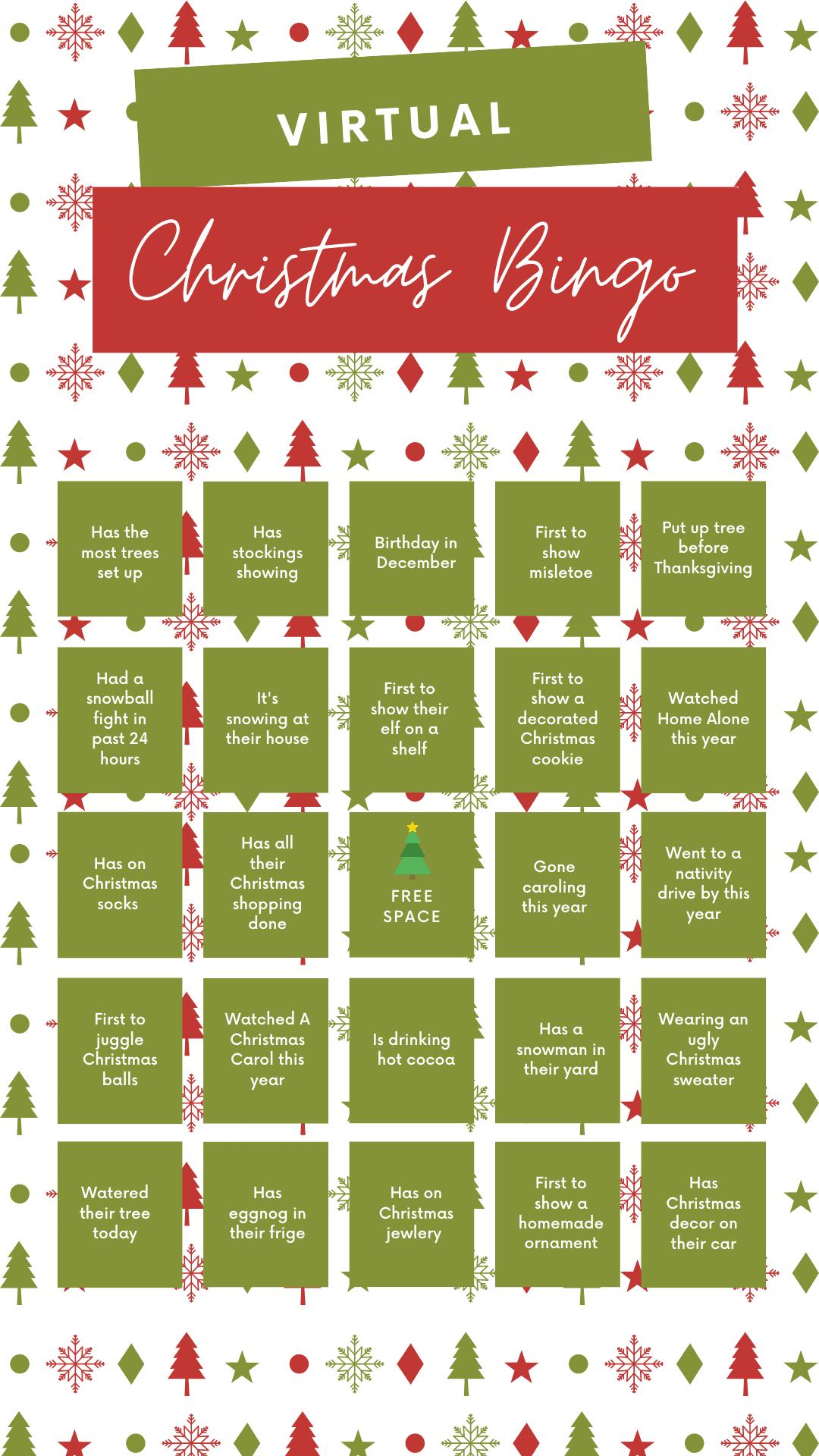 virtual christmas party bingo game