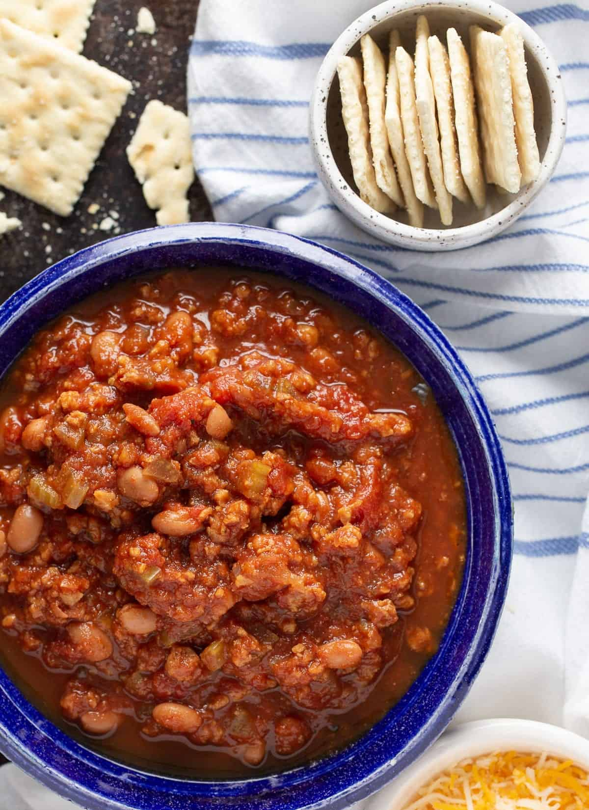 Copycat Wendy's Chili in a bowl