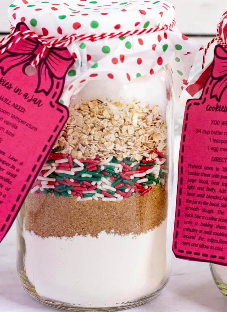 cookie mix gift for christmas in a jar