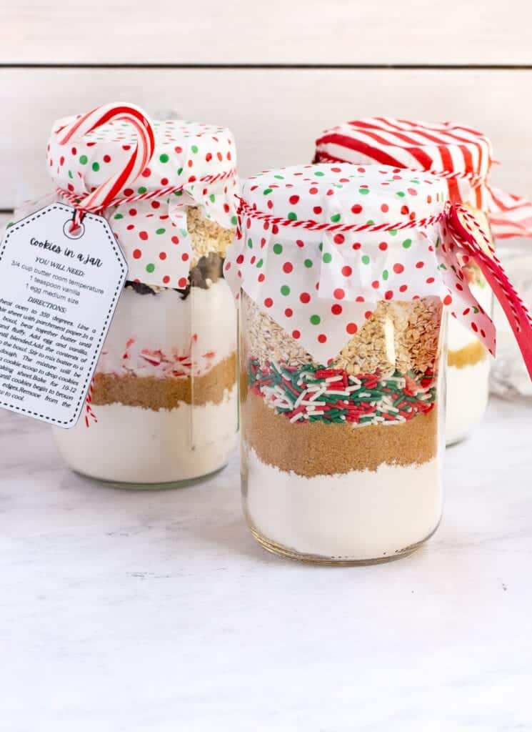 cookie mix gift in a jar