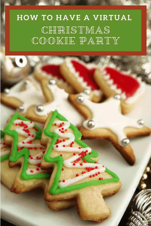 Virtual Christmas Party christmas cookies