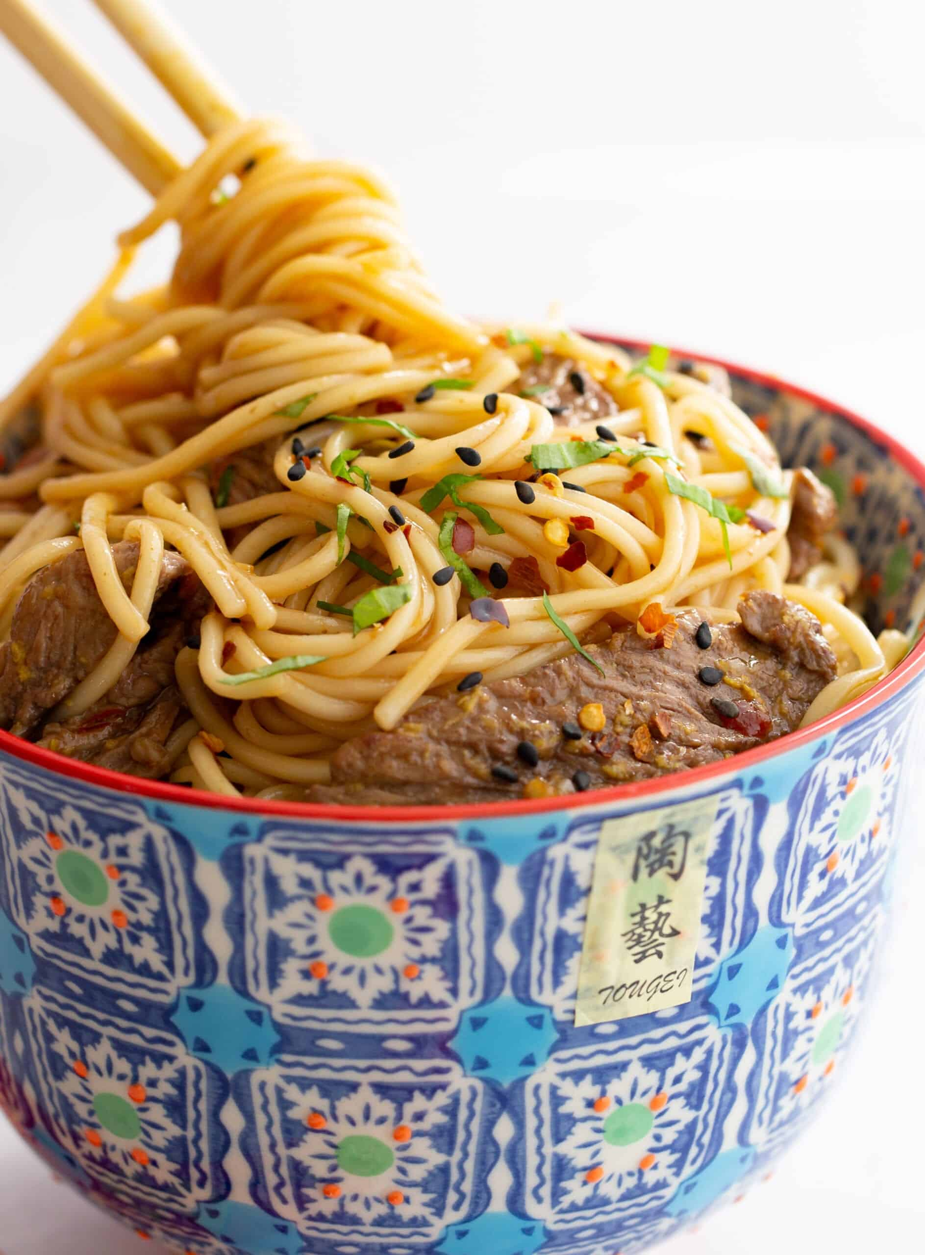 Easy Asian Noodles and Steak