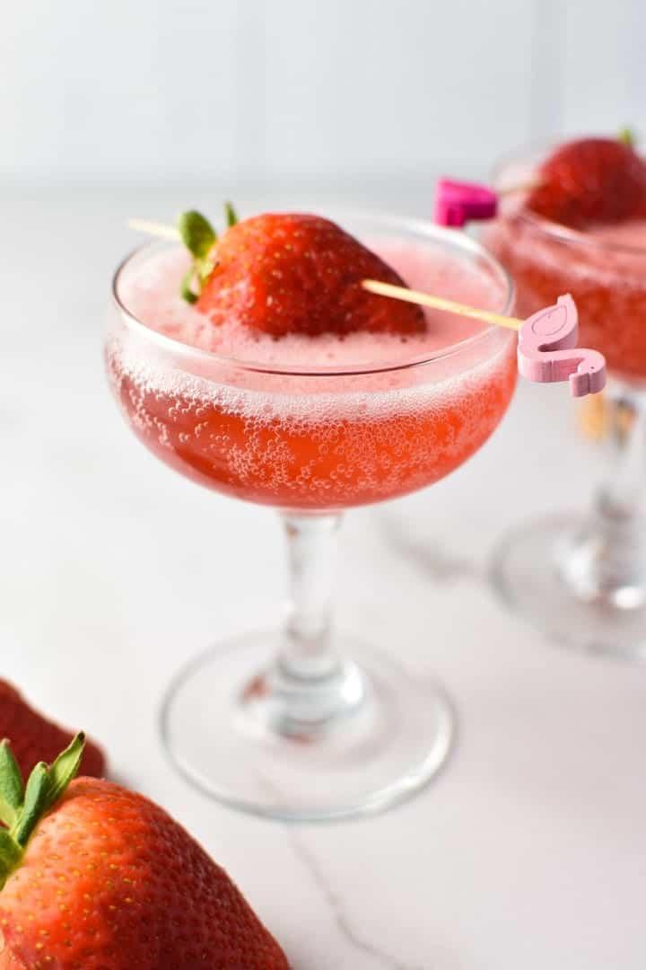 strawberry Spring mocktail