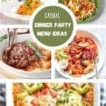 casual dinner party menu ideas