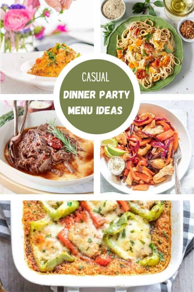 casual dinner party ideas dishes of food