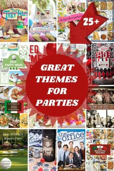 THEMES for parties with pictures of ideas