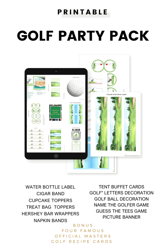 golf party ideas with printable pages