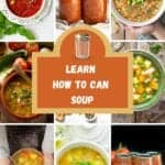 hot to can soup with variety of bowls