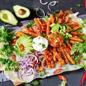 mexican dinner party. fries