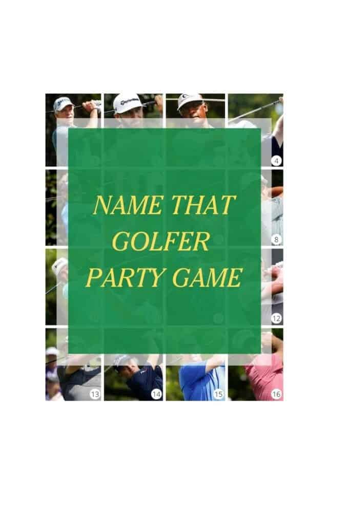 NAME THE GOLFER GAME SAMPLE PAGE