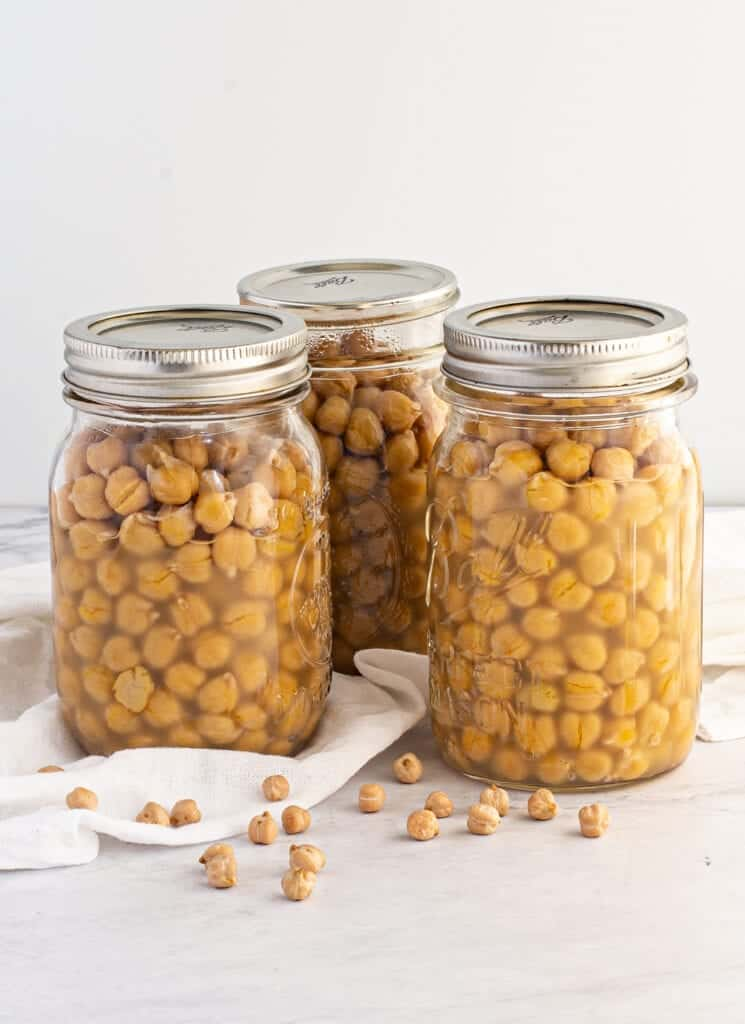 canning chickpeas in pint jars