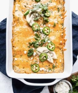 mexican dinner party enchiladas