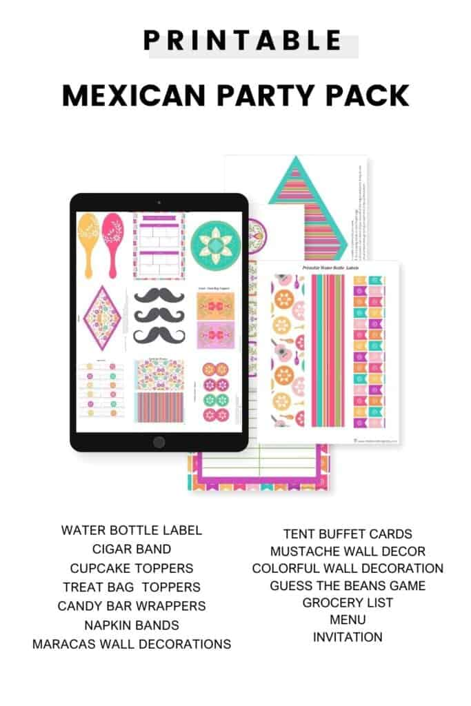 mexican printable party pack