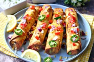 mexican dinner party taquitos