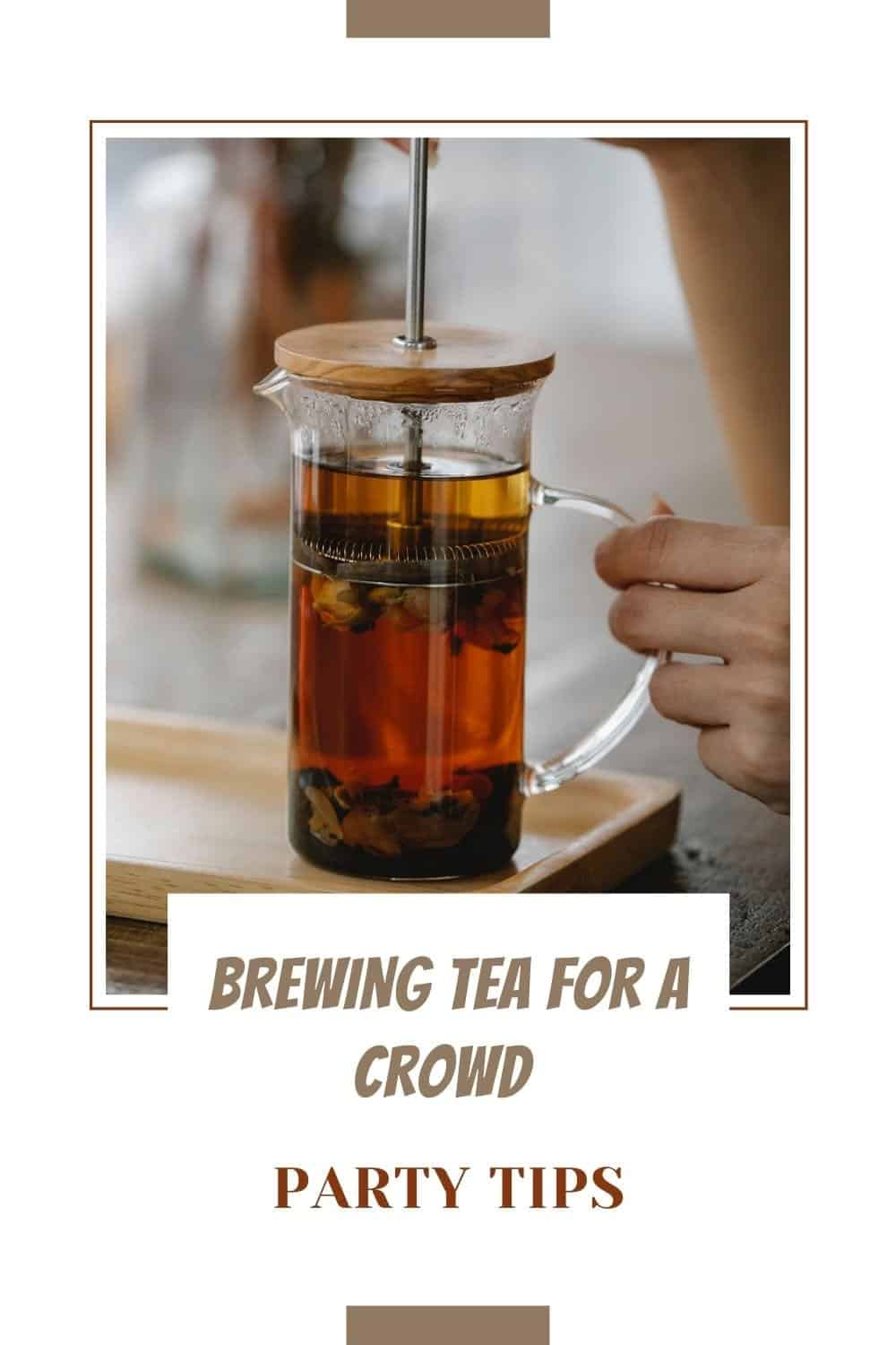 how long can tea set out with picture of someone brewing tea