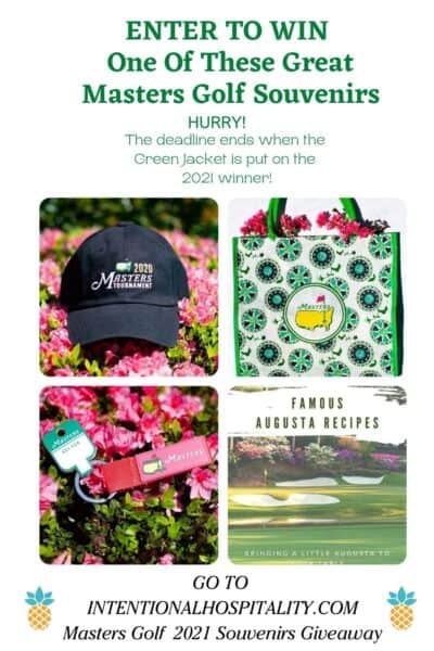 MASTERS 2021 giveaway items.