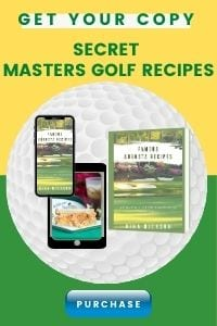 augusta famous golf recipes cookbook cover