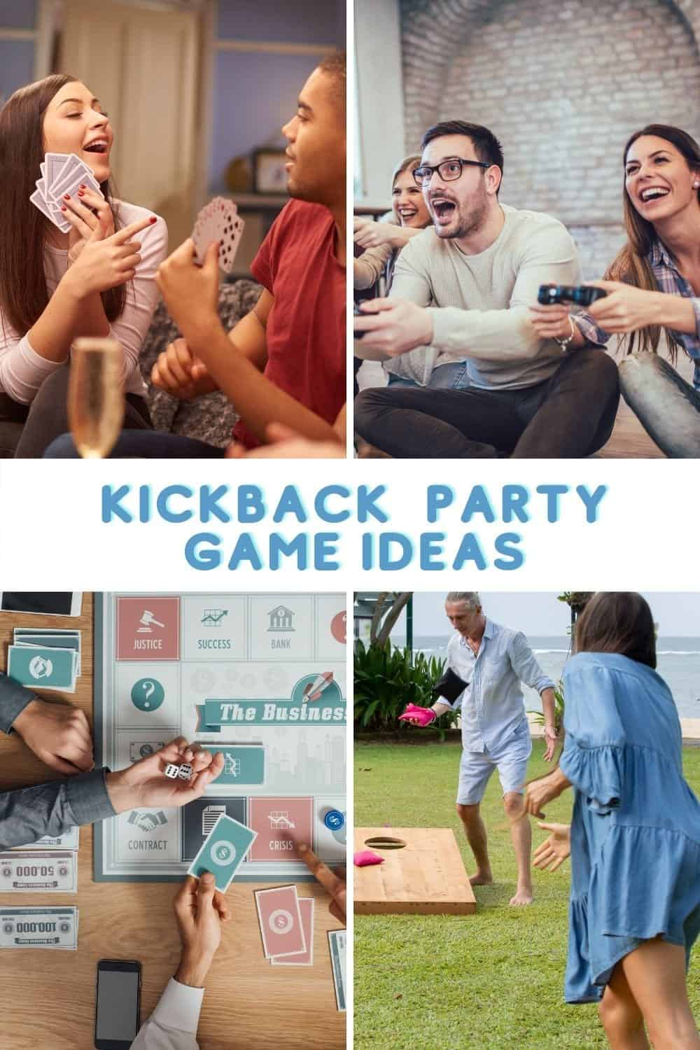 people playing kickback party games