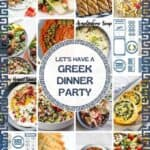 greek dinner party food and decorations ideas