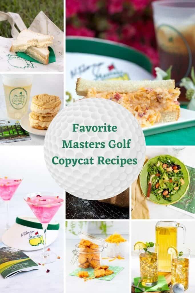 Masters golf recipes
