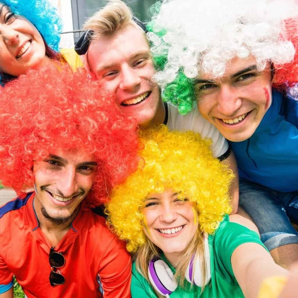 Best Dress Up Party Themes For Adults crazy wigs