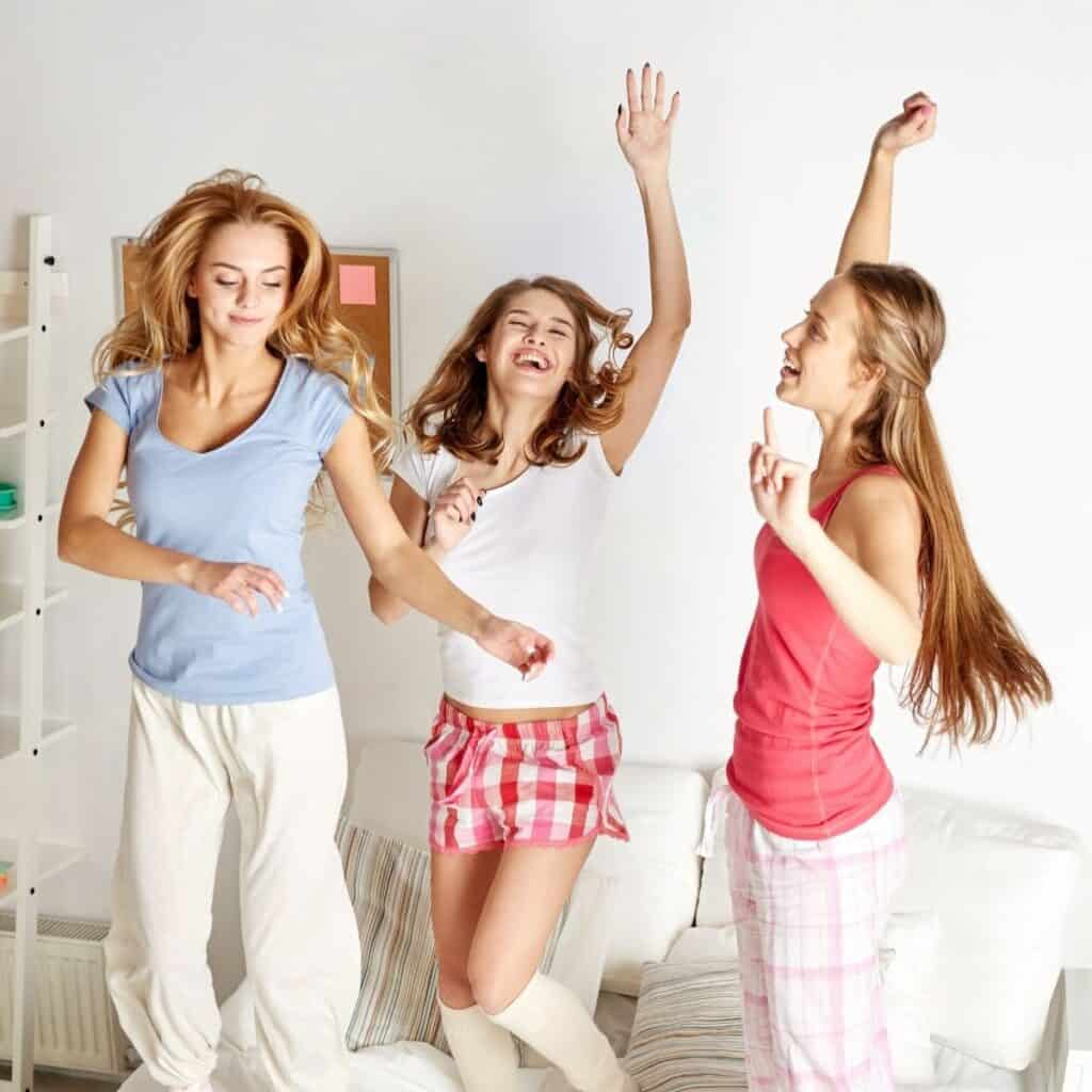 Best Dress Up Party Themes For Adults Girls in pjs
