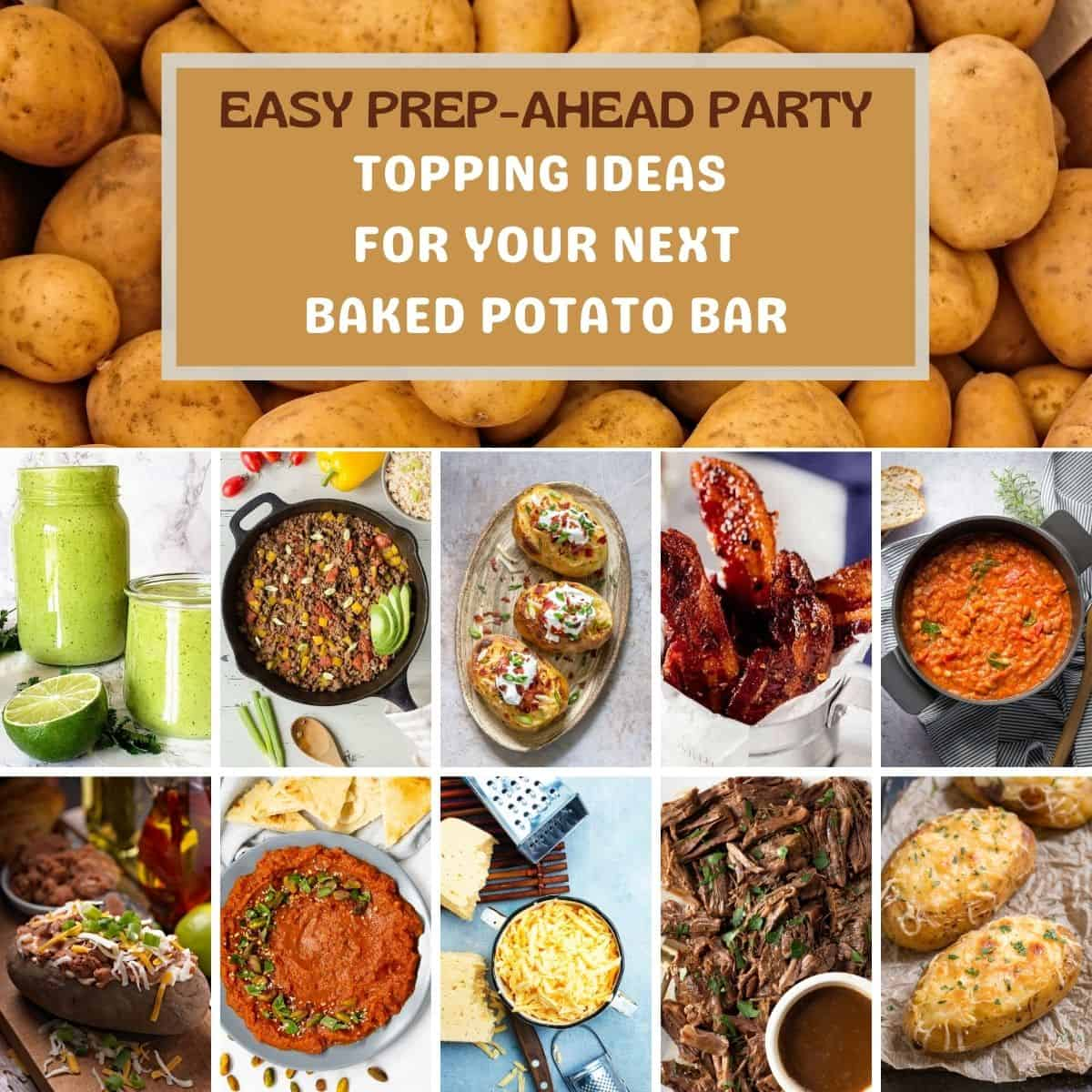 baked potato topping picture ideas