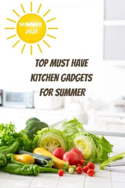 top must-have kitchen gadgets for summer 2021, kitchen with veggies