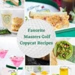 FAMOUS MASTERS GOLF RECIPES