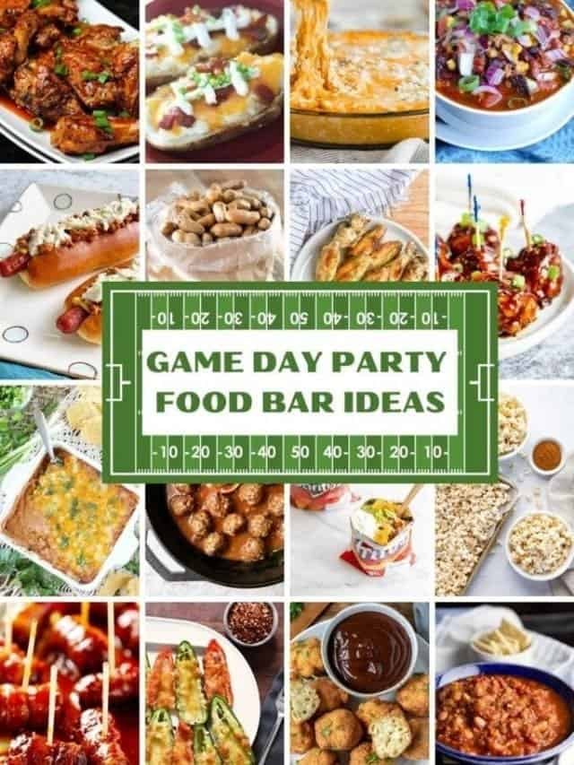 game day party food bar food ideas