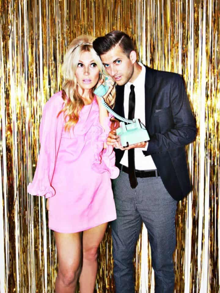 60s party themes, cocktail party couple