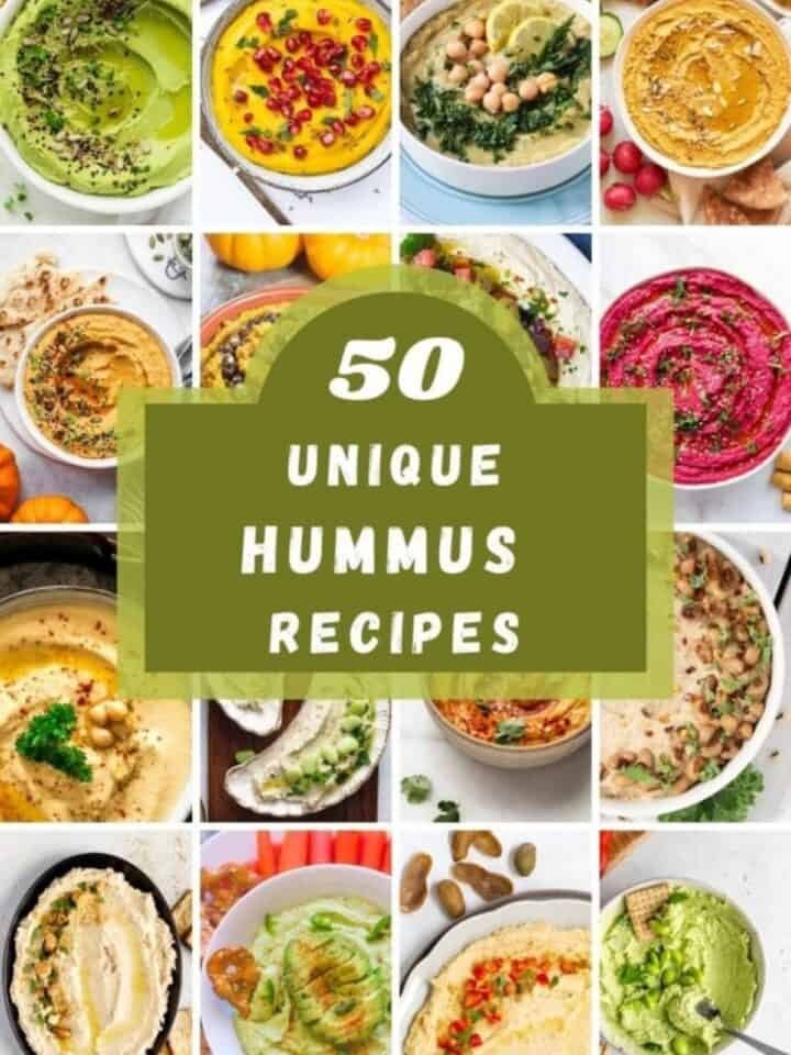 UNIQUE HUMMUS RECIPES with pictures of different types
