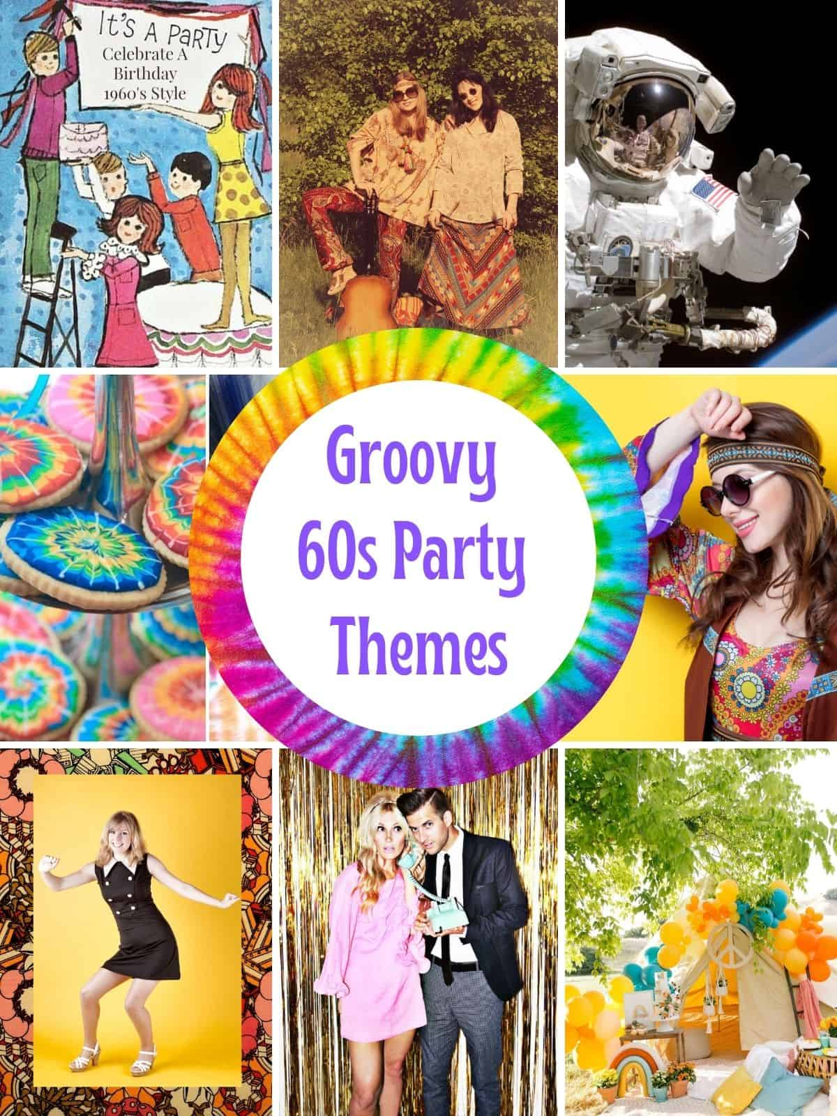 7 Groovy 60s Party Themes with pictures of hippies