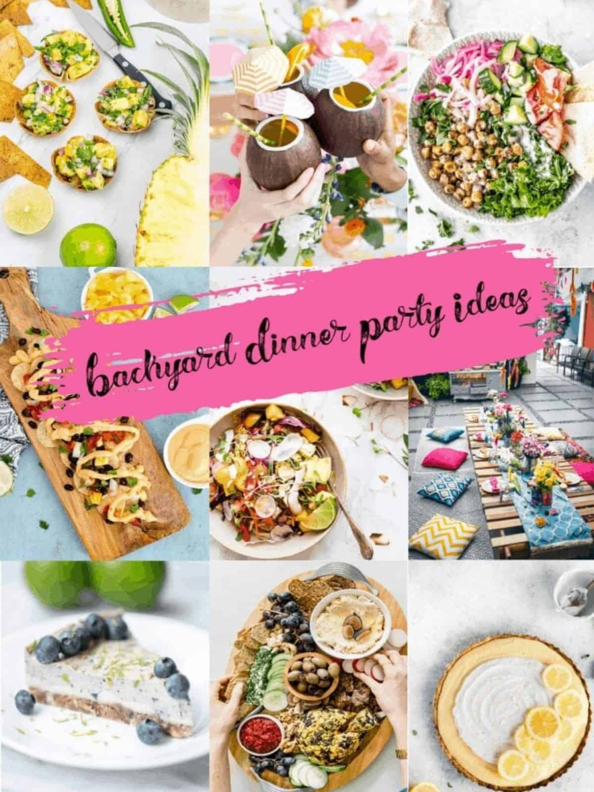 backyard dinner party food ideas and table settings