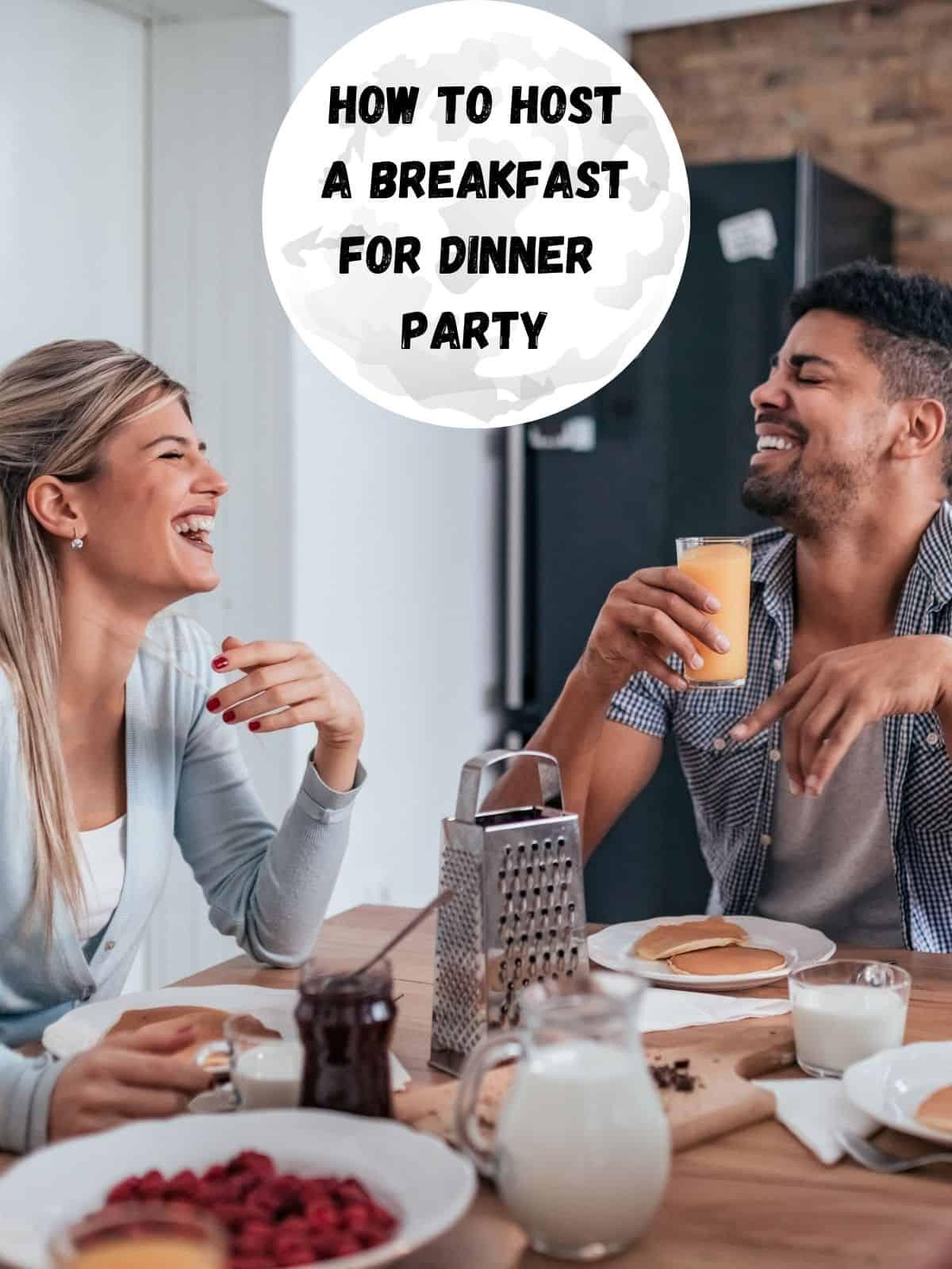 people enjoying breakfast for dinner