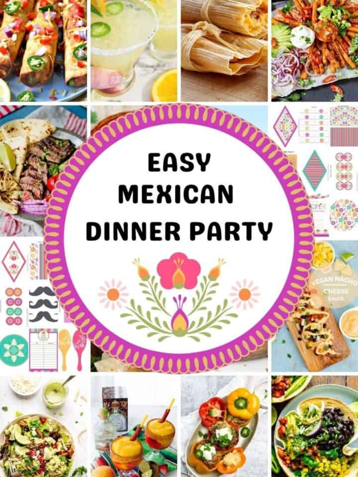 mexican dinner party food ideas and dexoarations